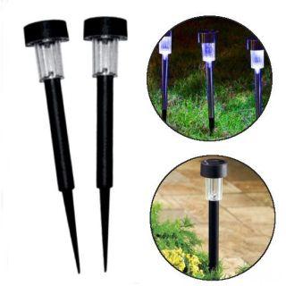 Набор садовых светильников на солнечной батарее, 10 шт, 37х5,5 см