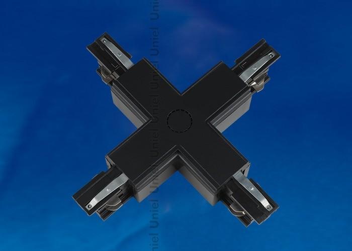 Соединитель для шинопроводов Х-образный Uniel черный UBX-A41 BLACK