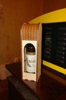 Простая коробка под вино с гибкой крышкой