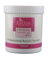 Ezflow Акриловая пудра для ногтей прозрачная (Clear), 120 г