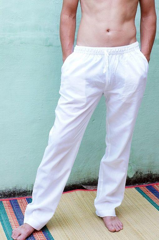 ЧЁРНЫЕ прямые штаны из хлопка на высокий рост, серия LONG (Москва)