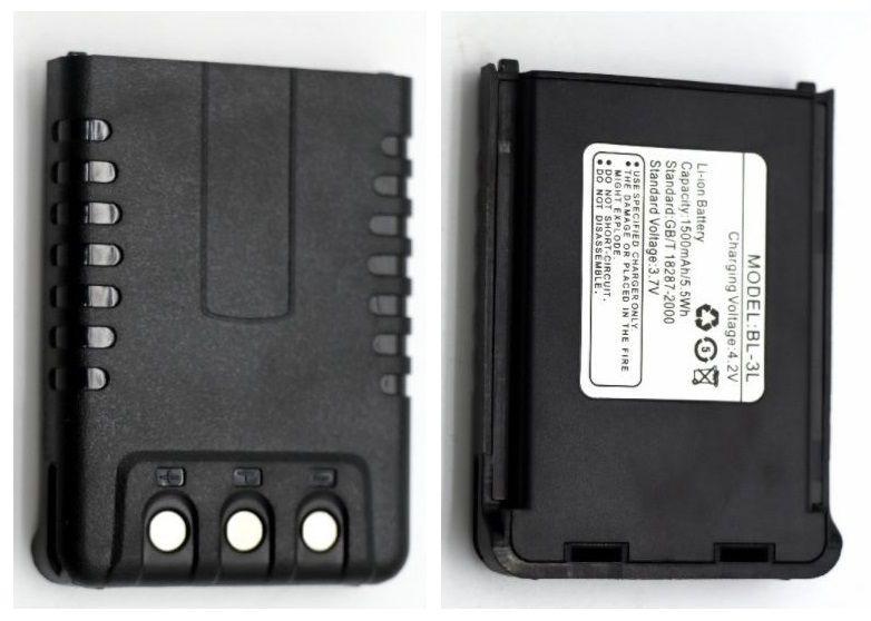Аккумулятор BL-3L для рации Baofeng UV-3R Plus 1500 мАч