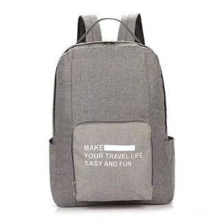 Складной туристический рюкзак New Folding Travel Bag Backpack 20, Цвет: Светло-серый