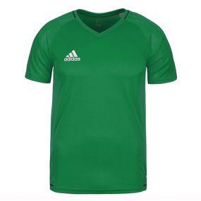 Детская футболка adidas Tiro 17 для тренировок зелёная