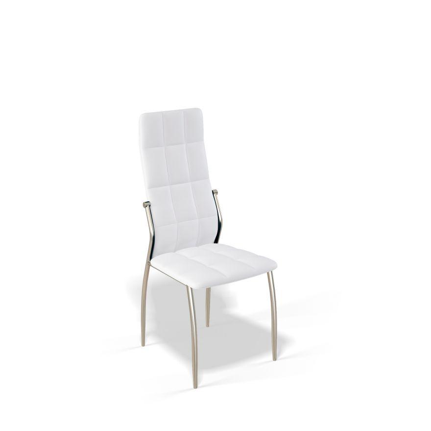 Стул для гостиной KENNER 106S, с мягким сиденьем и спинкой, белый