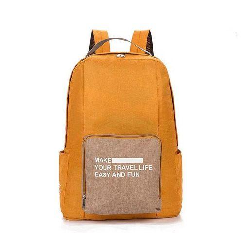 Складной туристический рюкзак New Folding Travel Bag Backpack 20: цвет – оранжевый.