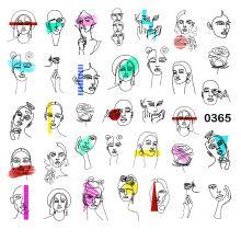 Слайдер-дизайн для ногтей № 0365