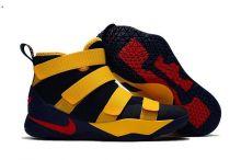 Баскетбольные кроссовки детские NIKE LEBRON SOLDIER 11 желтые