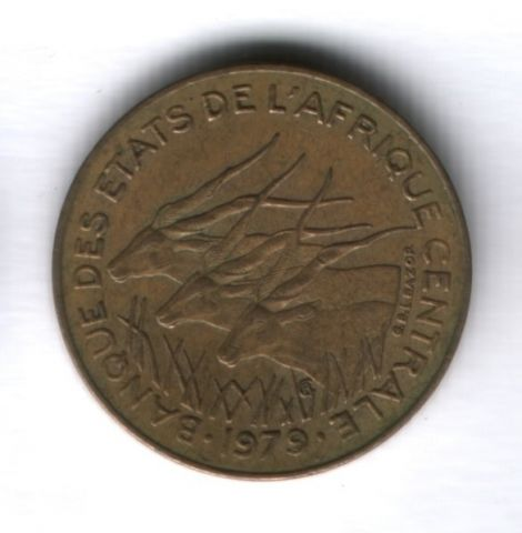 5 франков 1979 года Центральные Африканские Штаты
