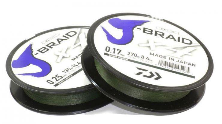 Шнур плетеный DAIWA J-Braid X4 135 м зеленый