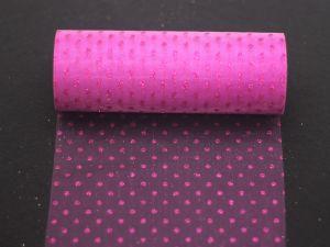 Фатин с люрексом, средняя жесткость, ширина 15 см, бобина 10 ярдов, цвет: Q11 светло-фиолетовый