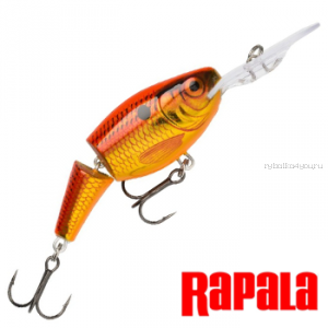 Воблер RapaIa Jointed Shad Rap JSR07 70 мм / 13 гр / Заглубление: 2,1 - 4,5 м / цвет: OSD