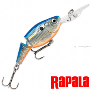 Воблер Rapala Jointed Shad Rap JSR09 90 мм / 25 гр / Заглубление: 3,3 - 5,4 м / цвет: BSD