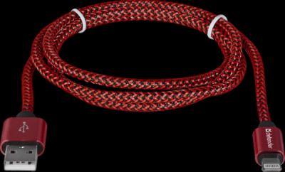 USB кабель ACH01-03T PRO USB2.0 Красный, AM-LightningM,1m,2.1А