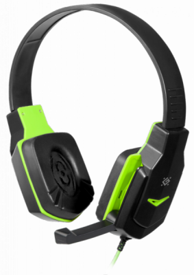 НОВИНКА. Игровая гарнитура Warhead G-320 черный+зеленый, кабель 1.8 м