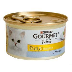 Консервы  Gourmet  Gold Mousse with Tuna для кошек паштет с тунцом 85 гр