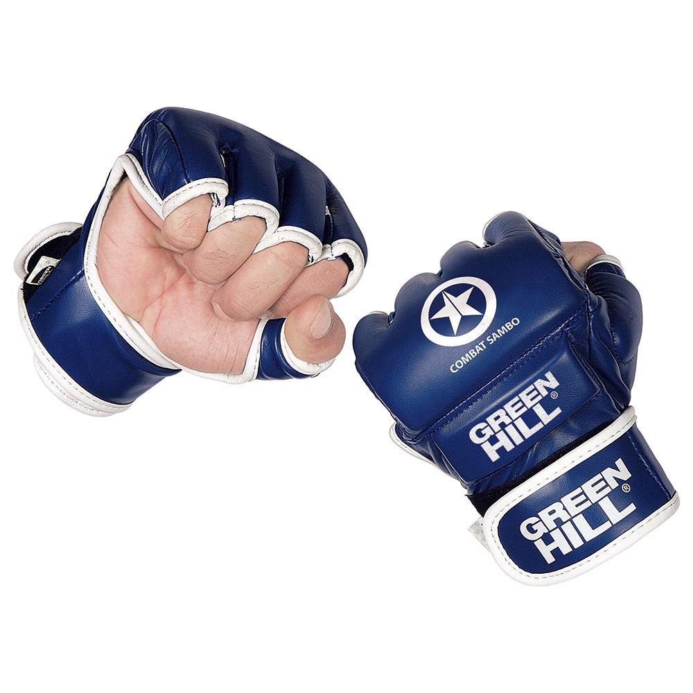 Перчатки для ММА GREEN HILL COMBAT SAMBO MMR-0027-CS синие
