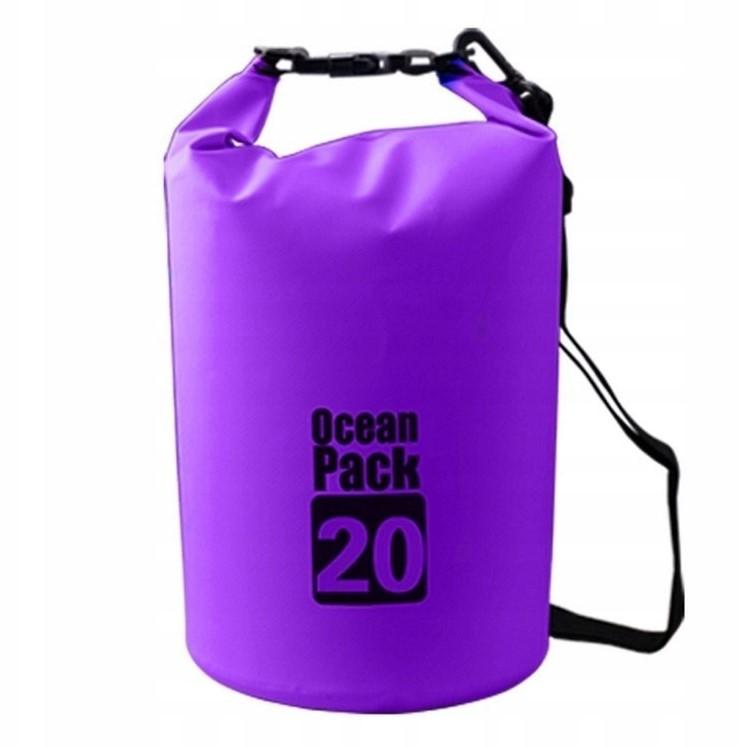 Водонепроницаемая сумка-мешок Ocean Pack, 20 L, цвет фиолетовый