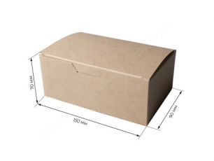 ECO Fast Food Box L «Pure Kraft» 150*90*70мм