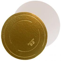 Подложка для торта Золото/Жемчуг толщина 3,2 мм  D 42см