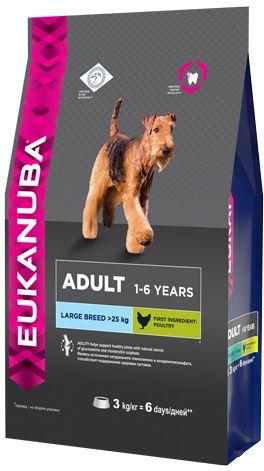 EUK Dog корм для взрослых собак крупных пород