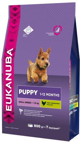 EUK Dog корм для щенков мелких пород