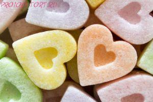 Сахар фигурный СЕРДЕЧКИ вес 200 гр.