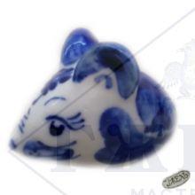 Гжель Символ Года 2020 ОПТОМ - Мышонок 4х6х3см