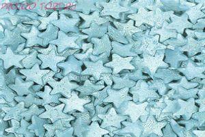 Посыпка Звёзды голубые перламутровые 50 гр.