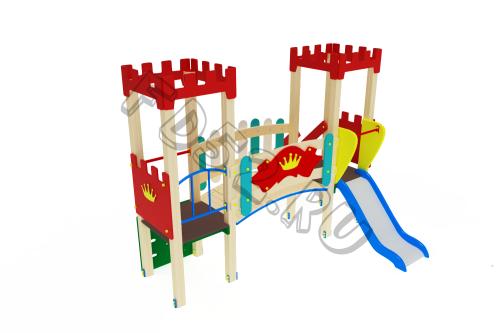 Детский игровой комплекс                          Королевство Горка 750                                           3100х2880х2730