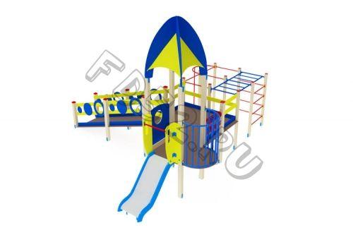 Детский игровой комплекс                            Забота Горка 750                                           5360х5990х3720