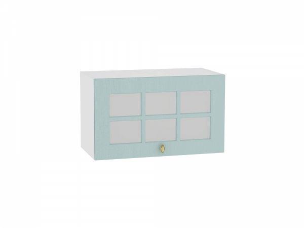 Шкаф верхний Прованс ВГ600 со стеклом (голубой)