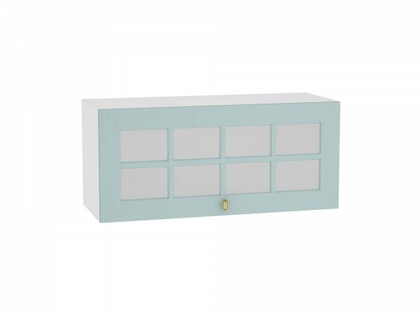 Шкаф верхний Прованс ВГ800 со стеклом (голубой)