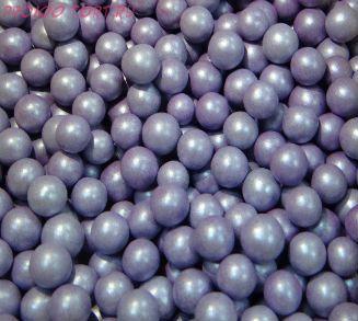 """Шарики сахарные """" Жемчуг Лиловый """" ( d-10мм) перламутровый вес 50 гр."""