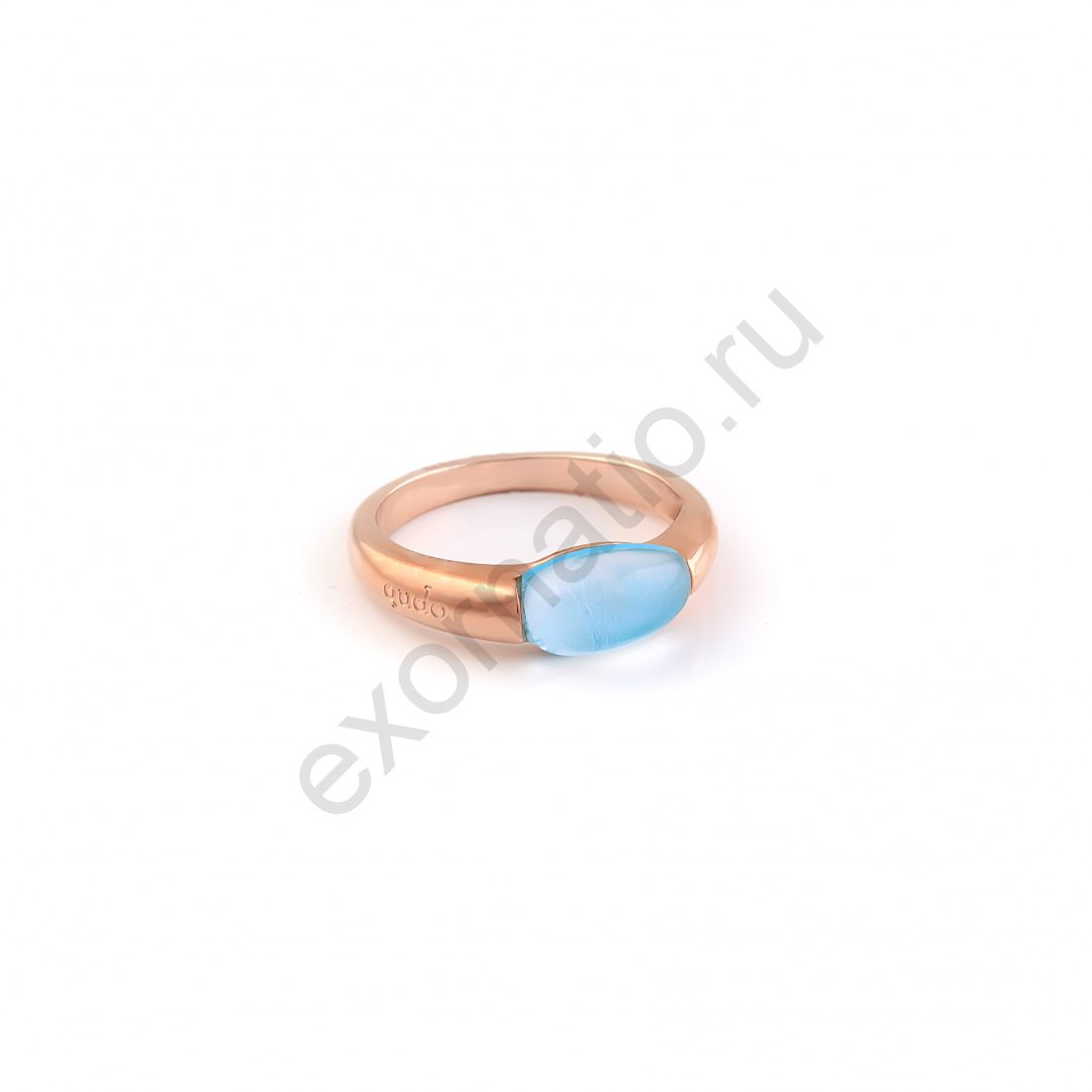 Кольцо Qudo 626335/17.2 BL/RG