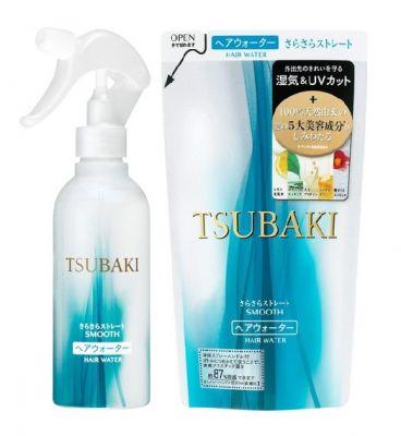 """""""SHISEIDO"""" """"TSUBAKI SMOOTH"""" Разглаживающий спрей для волос с маслом камелии и защитой от термического воздействия"""