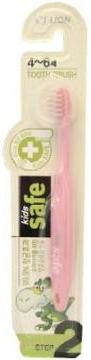 CJ Lion Зубная щётка детская Kids Safe с нано-серебряным покрытием №2 от 4 до 6 лет