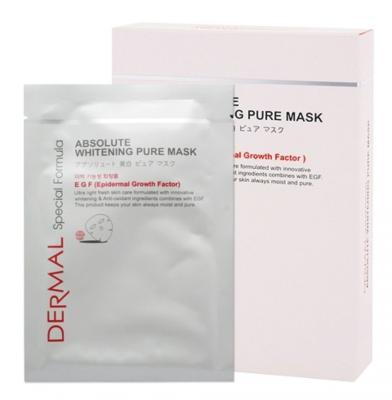 Dermal Маски для лица выравнивающие тон кожи с ниацинамидом, коллагеном и эпидермальным фактором роста EGF 30 гр 8 шт