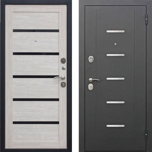Входная дверь ГАРДА МУАР ЦАРГА 7,5 см (лиственница мокко)