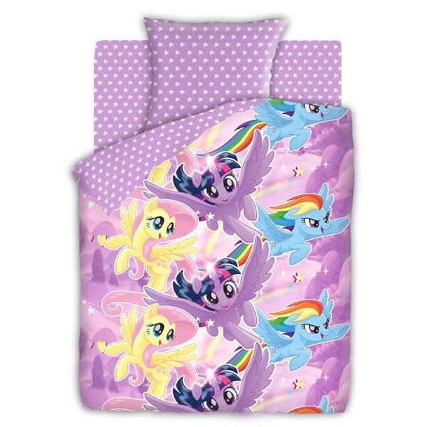 """Детское постельное белье """"Небесные пони"""", рис.8920-1-8921-1 (My little Pony), 1.5сп."""