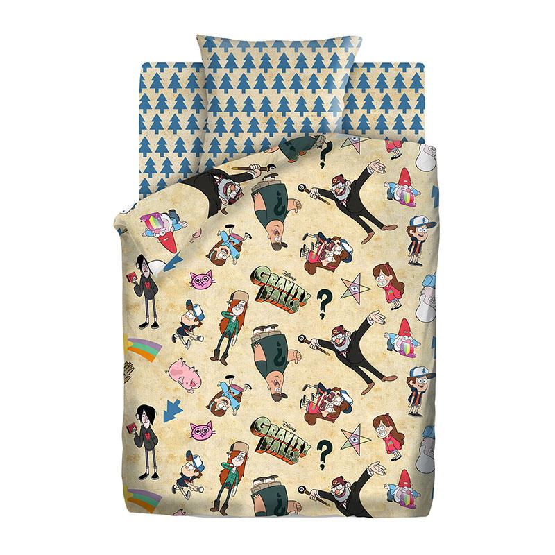 """Детское постельное белье """"Гравити Фолз"""", рис.8904+8905 (Гравити Фолз), 1.5сп."""