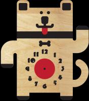 Часы настенные с собачкой и косточкой