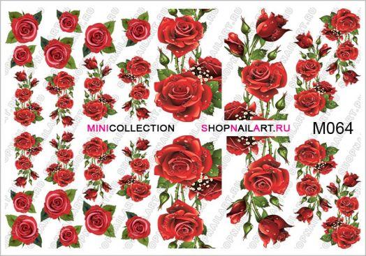 Слайдер-дизайн M064 - Красные розы