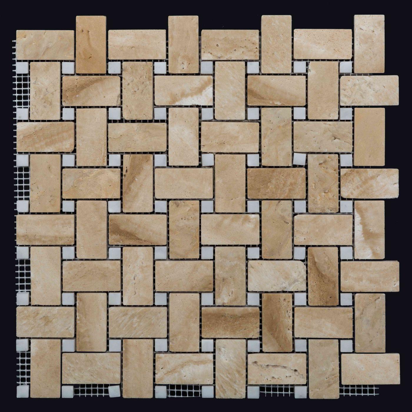 Мозаика из травертина