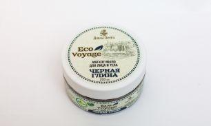 """Мягкое мыло для лица и тела Eco Voyage """"Черная глина"""" 200мл"""