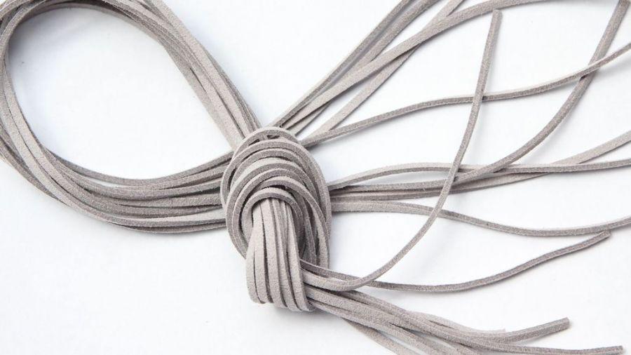 Шнур замшевый, 3*2 мм, Цвет №66, Светло-серый, 1 м/упак
