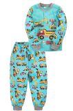 Пижама для мальчика Bonito бирюзовая с машинками