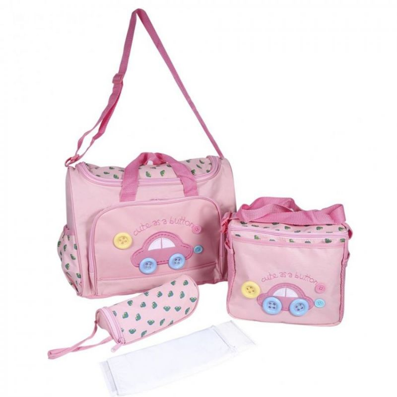 Комплект сумок для мамы Cute as a Button, 3 шт, цвет розовый