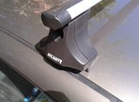 """Багажник на крышу Nissan Almera Classic, Атлант, аэродинамические дуги """"Эконом"""""""