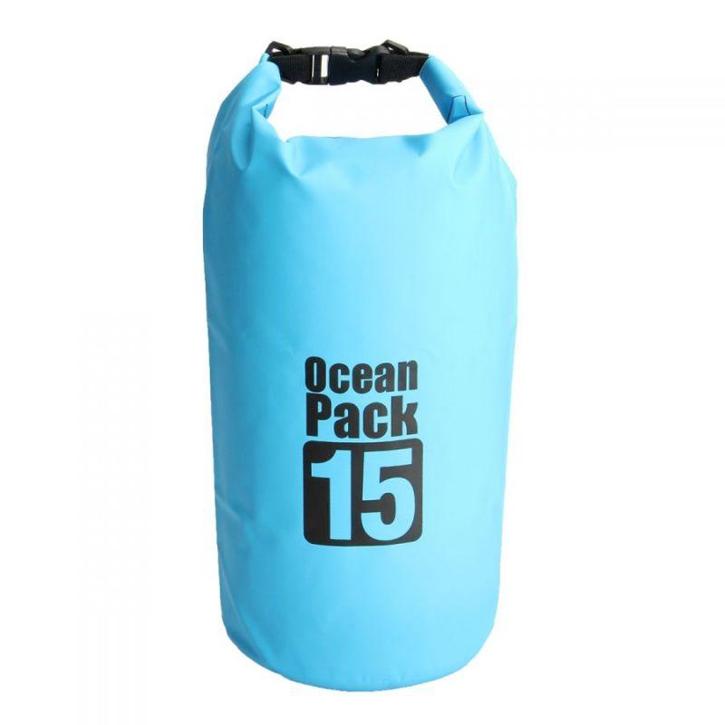 Водонепроницаемая Сумка-Мешок Ocean Pack, 15 L, Цвет Голубой